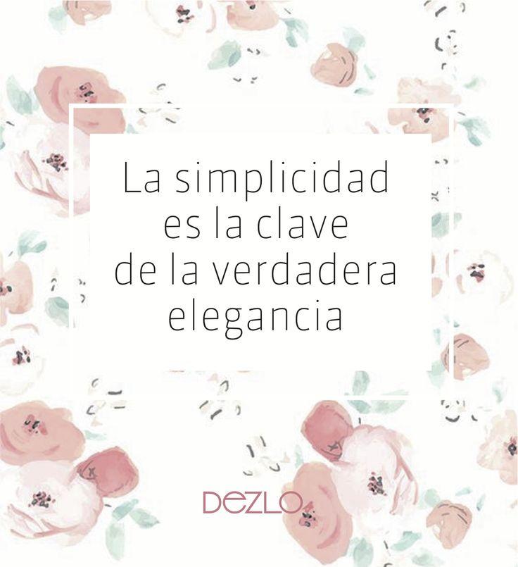 simplicidad frases elegancia DEZLO joyas plata accesorios moda