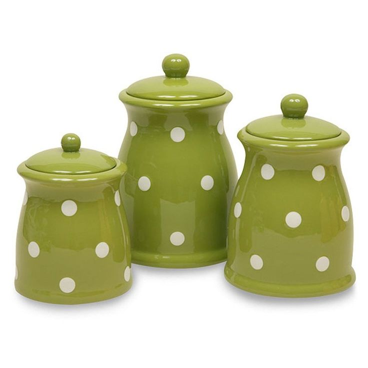 Green Kitchen Canisters: No Longer Available Through Amazon, But Found Them By