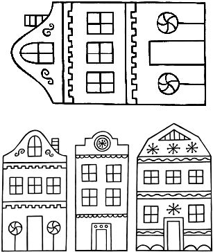 Sweet houses cling set