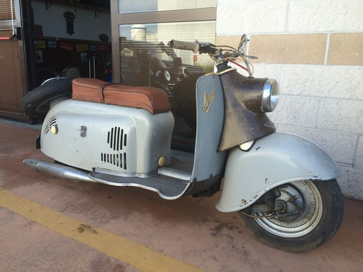 The only scooter for me. IWL Wiesel. 1958. Not restored with original paint .