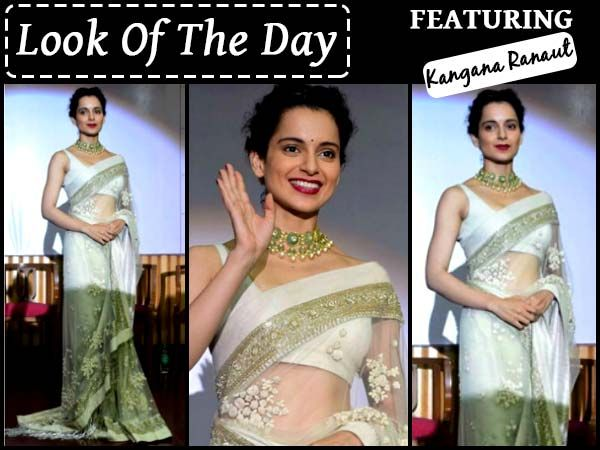 Kangana Ranaut's Sabyasachi Saree Look Is By Far Our Favourite Saree Looks Of All Time! #KanganaRanaut Sabyasachi Mukherjee #Saree #Bollywood #BollywoodFashion
