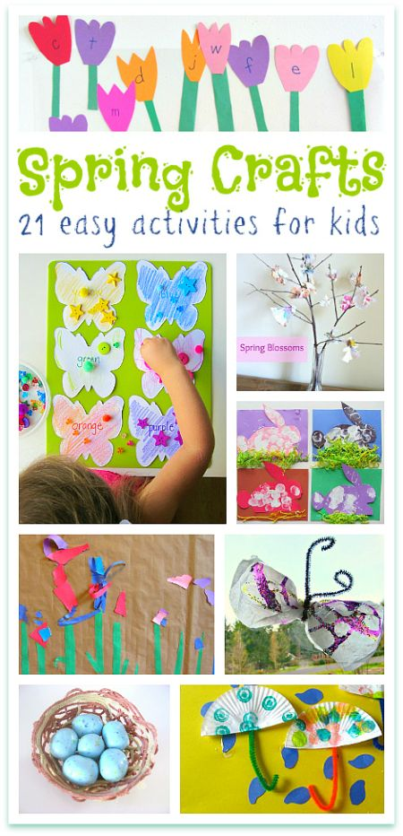 Spring is my favorite time for kids crafts. So many pretty colors. These are all easy spring crafts for kids.