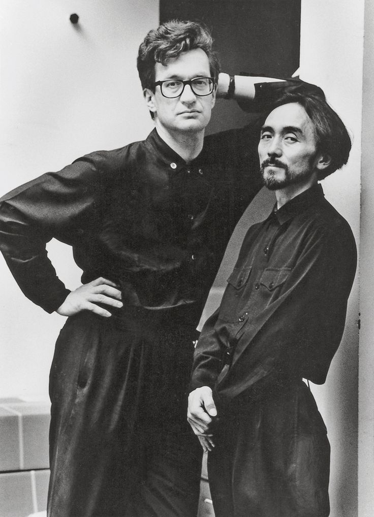 // by Alice Springs : Wim Wenders et Yohji Yamamoto, 1989 Wim made a great movie of Yohji  called 'Notebook on Cities and Clothes' magical.