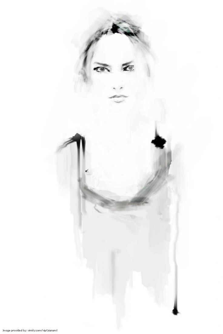 Fashion illustration - black & white fashion drawing // Yiunam Leung