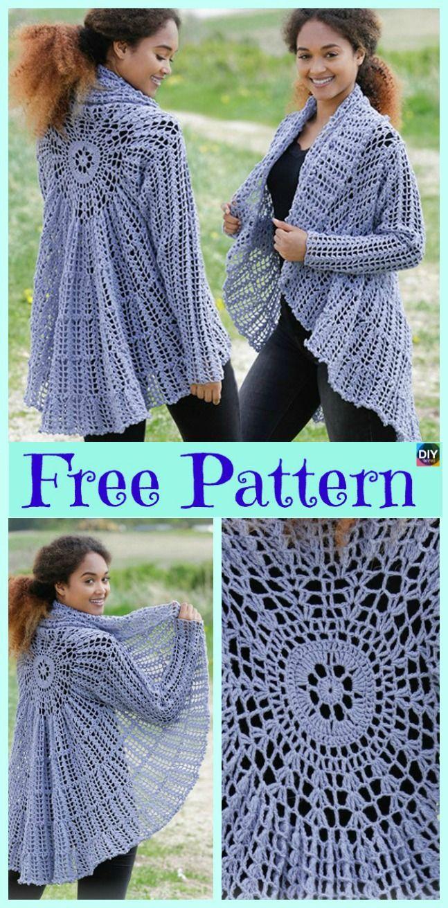 15 Unique Crochet Circular Jacket Free Patterns Crochet Knit