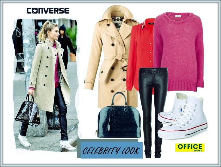 Supermodel Jessica Hart in her streetwear with canvas Converse :-)