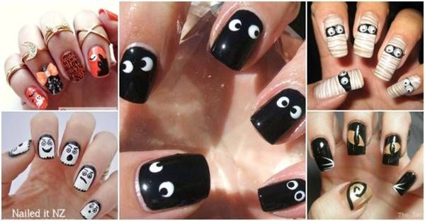 40 Spooky Und Kreative Diy Halloween Nail Art Ideen Beste Frisuren Halloween Nail Art Easy Halloween Nail Art Halloween Nails Diy