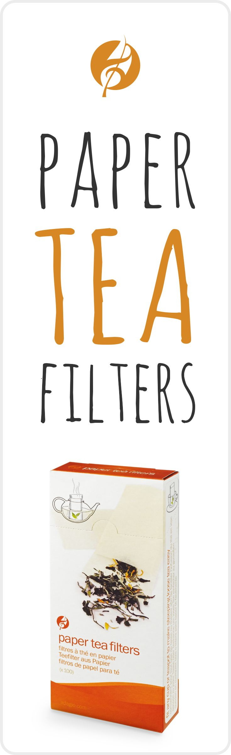 Enjoy loose tea anywhere with these convenient and easy-to-use disposable filters (empty tea bags).