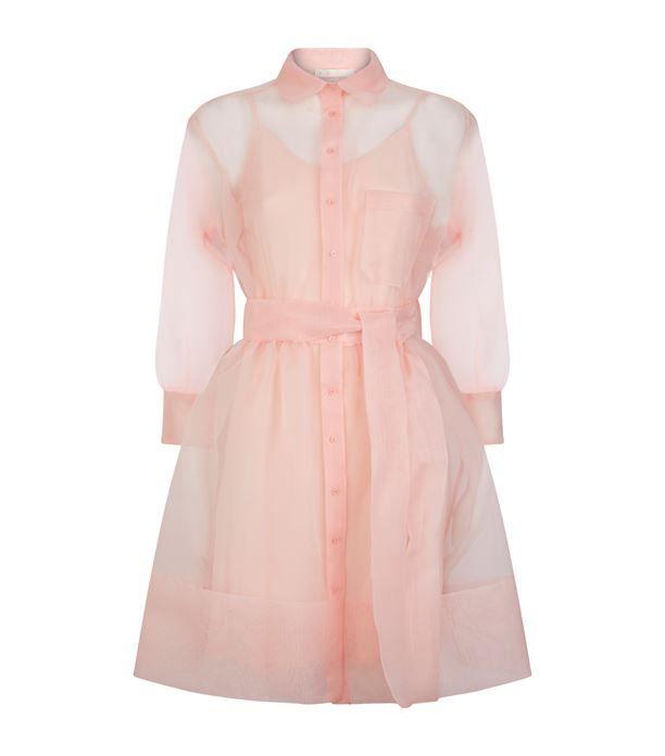 Women: Dresses Maje Organza Shirt Dress