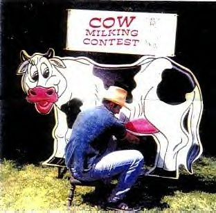Cow Milking Contest, rodeo, cowboy western themed games for rent