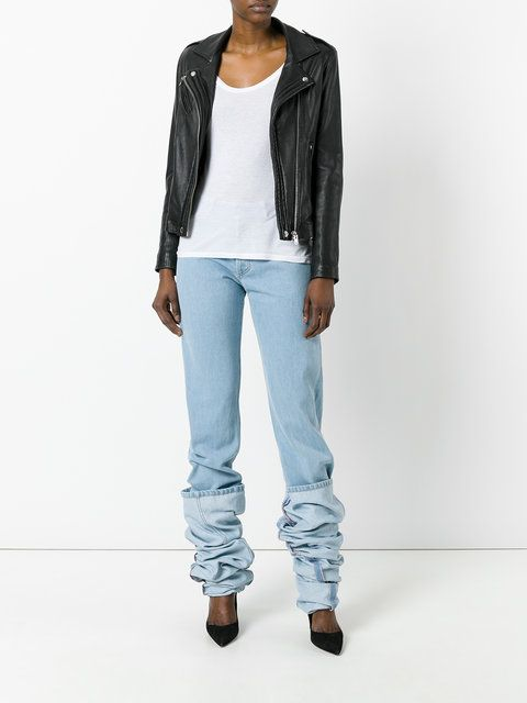 Y / Project oversized folded jeans
