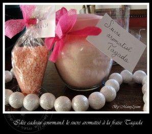 Sucre aromatisé à la fraise Tagada