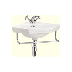 Burlington Corner Sink : Burlington corner sink with towel rail