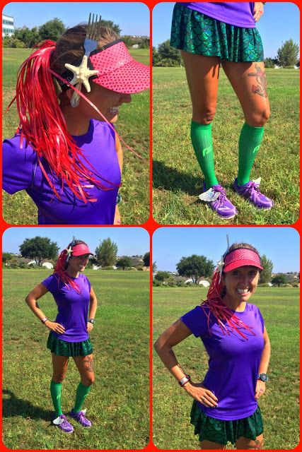 How to create an easy DIY Little Mermaid running costume. Not only is this Ariel costume easy to run in, it is even easier to put it together!