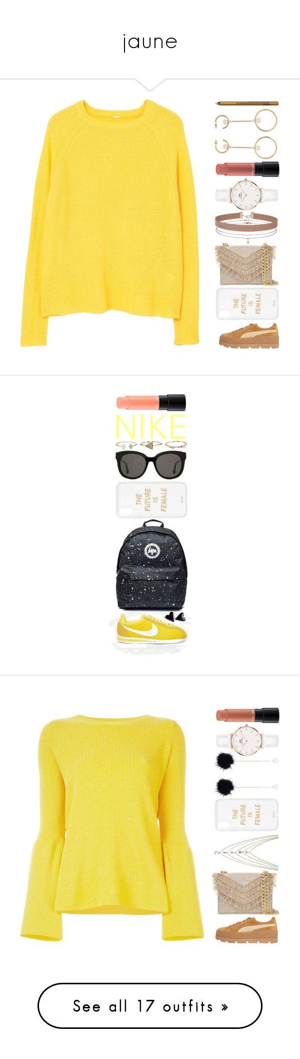 """jaune"" by elyblog ❤ liked on Polyvore featuring MANGO, Puma, Cynthia Rowley, Daniel Wellington, Sonix, Chloé, MAC Cosmetics, Miss Selfridge, NYX and Gentle Monster"