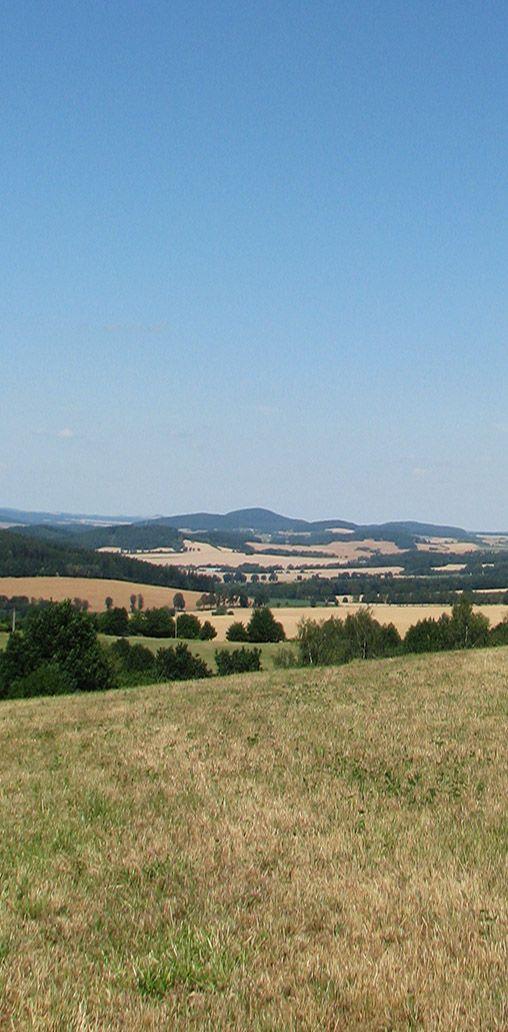 Blaník hills (Velký & Malý Blaník) and Podblanicko region from the South - Mladá Vožice region (South Bohemia), Czechia