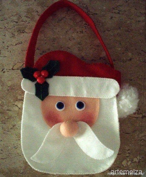 DIY Bolsa Papá Noel