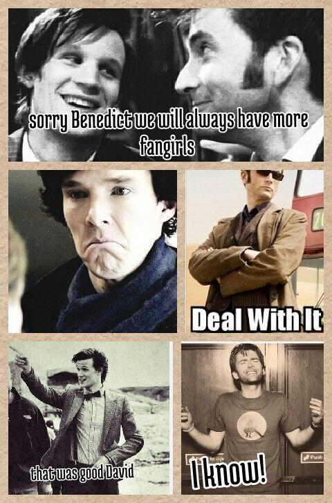 Funny Doctor Who Sherlock meme.
