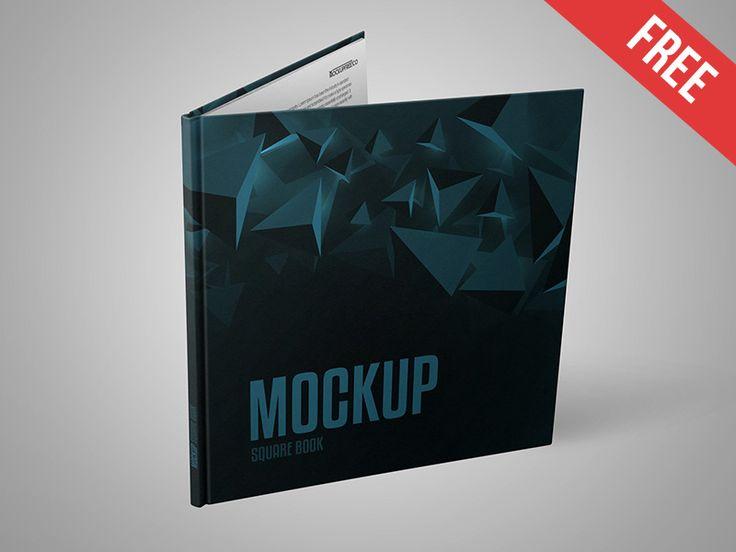 Square Book Free Psd Mockup Mockup Free Psd Free Psd Mockup Psd