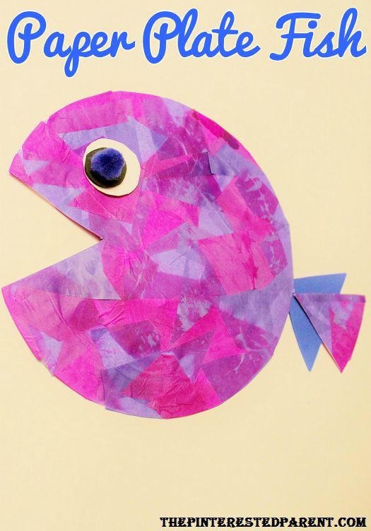 Paper Plate Fish - tissue paper layering craft for the kids  sc 1 st  Pinterest & 31 best Paper Plate Crafts images on Pinterest | Crafts for kids ...