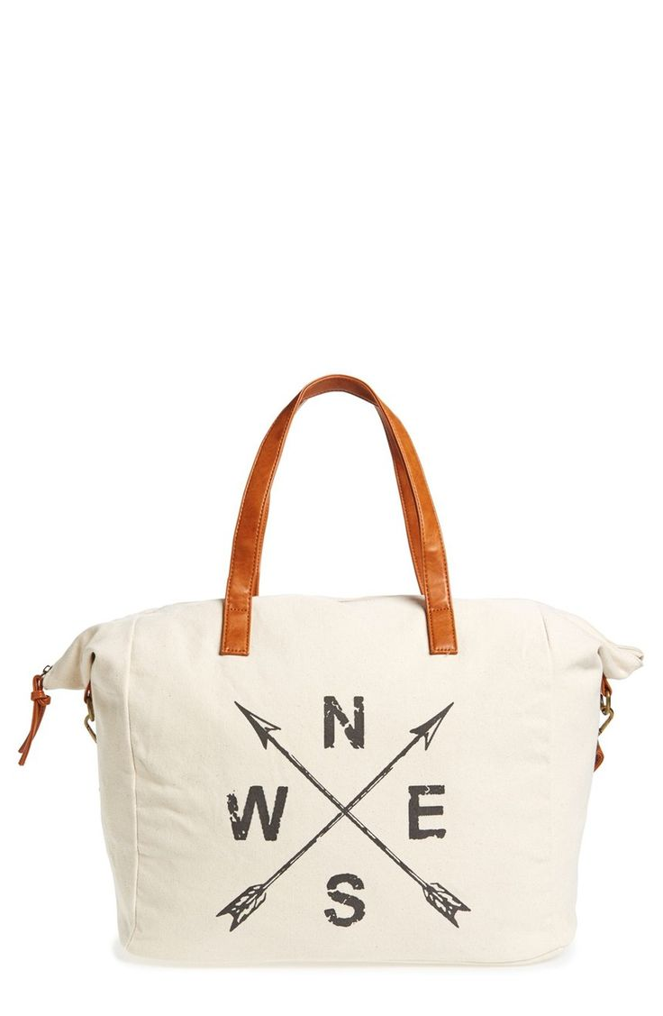 Constructed of sturdy canvas with a roomy interior, this bag is perfect for an afternoon at the beach or a weekend trip.