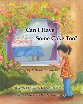 Can I Have Some Cake Too? tells an all too familiar story that kids like Michelle, with food allergies, face daily in school and at social gatherings. It reminds them that they are not alone. Michelle sees Julia's beautiful birthday cake and wonders if she can eat it. She hopes that it does not have peanuts or tree nuts as she is allergic to them.Heather (WA Allergy Mama)