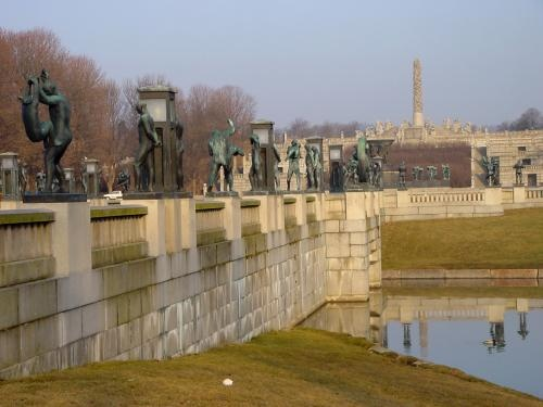 Vigeland Park, Oslo, Norway. The most amazing sculpture garden you will see in the world. All designed by one artist, he takes you from birth to death and shows so the personal elements of life from joy, to sorrow, to boredom, to loss, to peace. Go there!