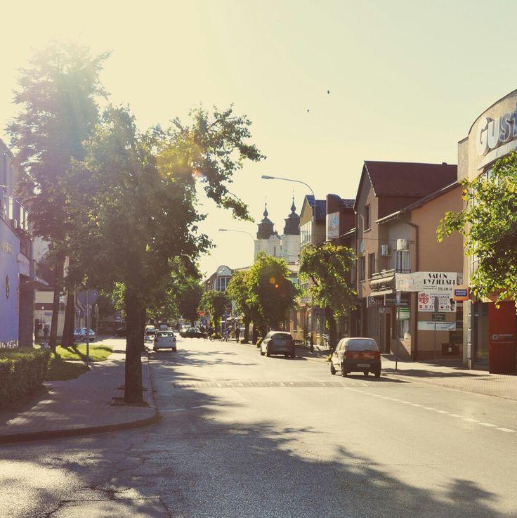 Ulica Staropijarska w Łukowie.