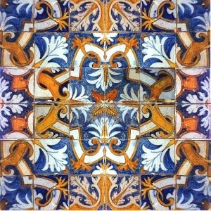 17th century portugese tiles from Solar Antique Tiles here in the city...144 available, $120 each.  too expensive for an entire backsplash obvi, but a few for some small area could be amazing!