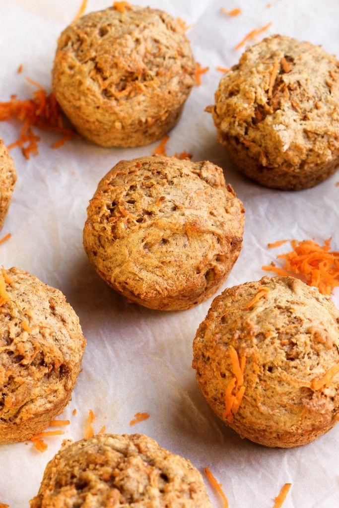 Healthy Banana Carrot Muffins - sneak in some healthy ingredients and this kiddos won't even know it.