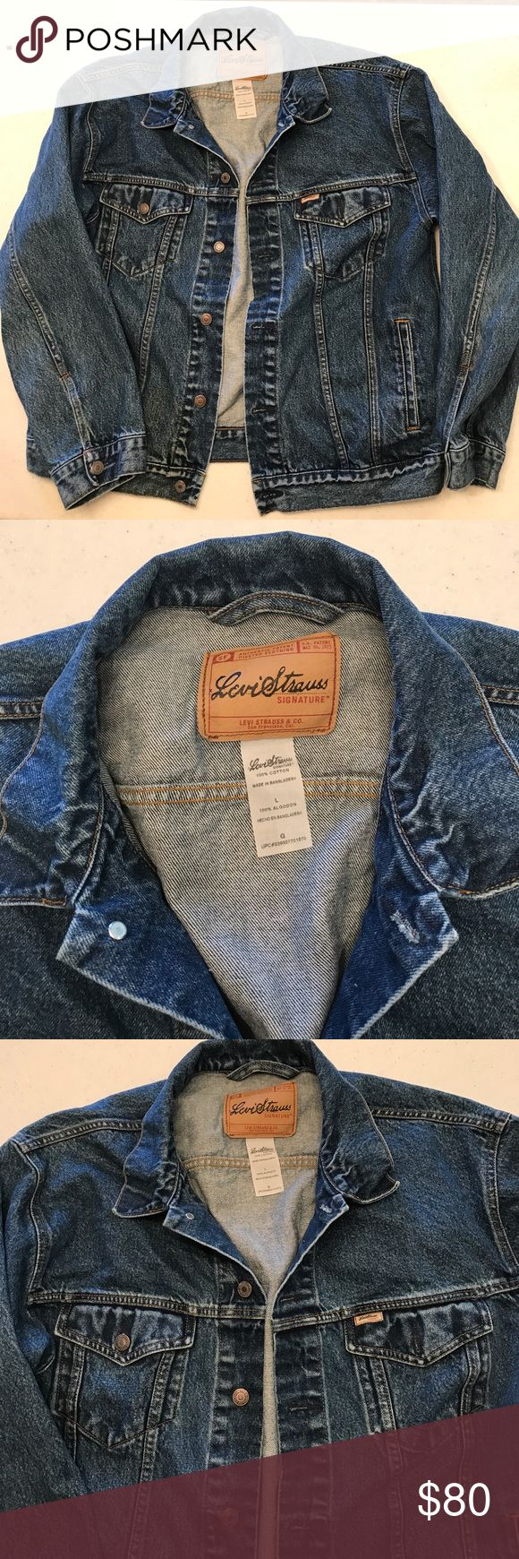 Vintage men's Levi Strauss Signature jean jacket Vintage men's Levi Strauss Signature jean jacket Signature by Levi Strauss Jackets & Coats