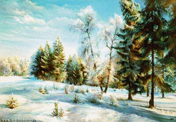 зимнее утро, предпросмотр