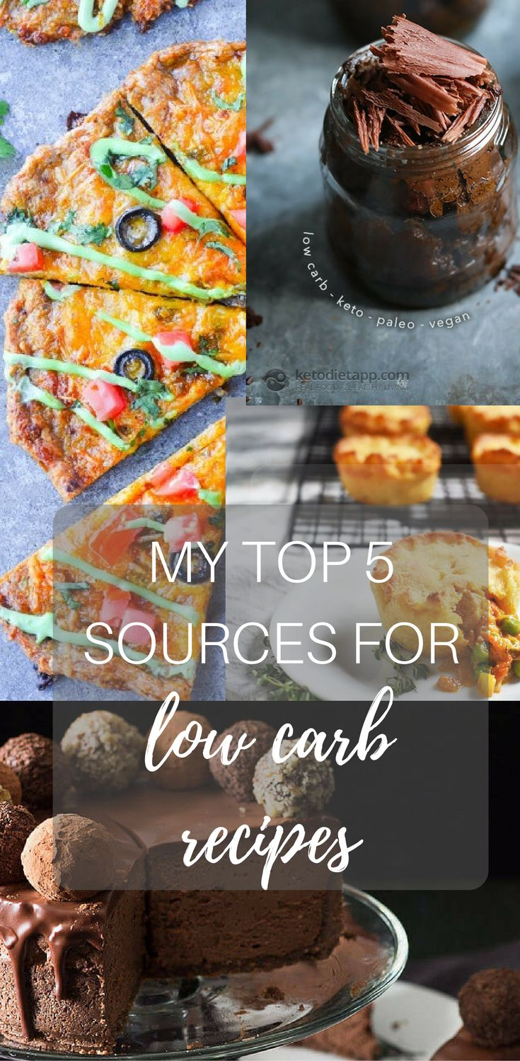 My Top 5 Sources For Low Carb Recipes