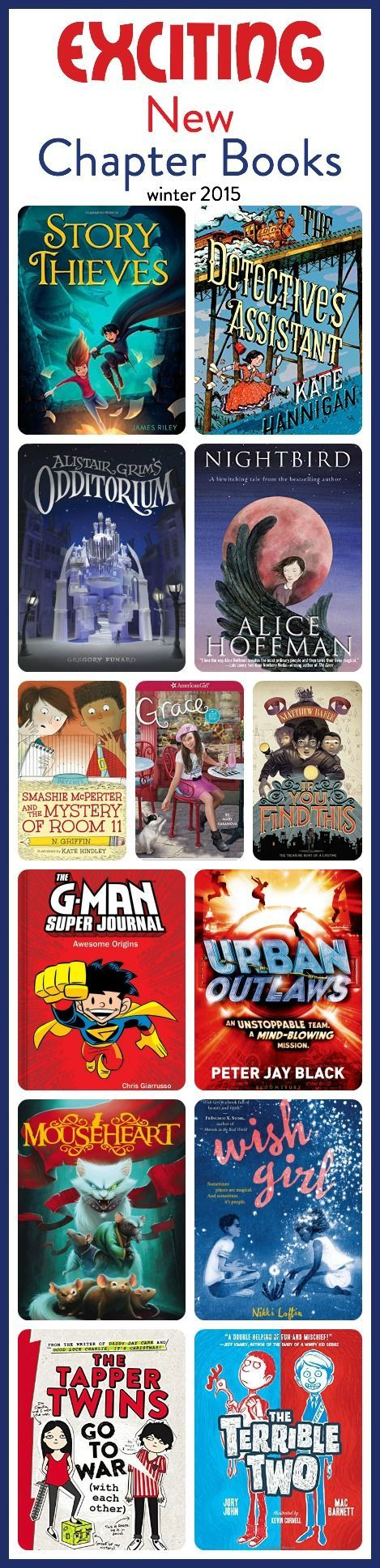 exciting new chapter books in the middle-grade range which is third grade, fourth grade, fifth grade, and sixth grade, or ages 8 - 11.
