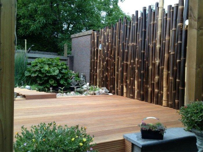 Tuinschermen, bamboe schermen, bamboe schutting, hekken