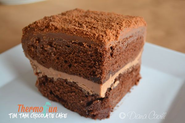This Thermomix Chocolate Cake Recipe with Tim Tams is a perfect addition to any Australia Day get-together. Be warned with over 600g of Chocolate you won't be