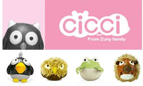Cicci is differed from the other Zuny series.  The chubby appearance and form make Cicci series more interesting.