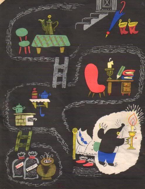 Russian children's book. Illustrations by B. Kalaushina.
