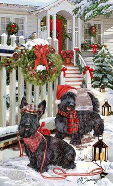 Image Detail for - Shop for Cards - Scottish Terrier - Scottish Terrier - Christmas .