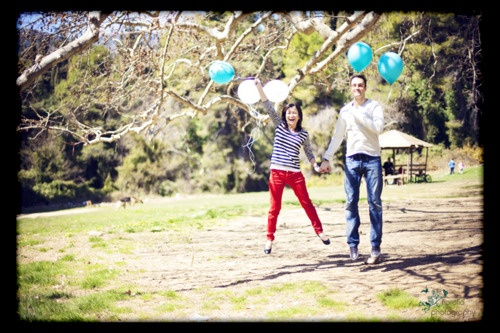 get engaged with balloons!