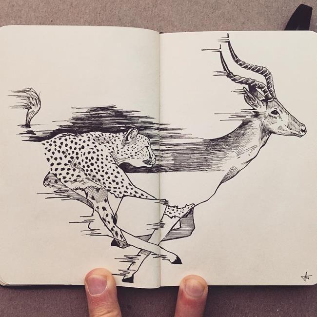 Not Defterine Yapılmış Birbirinden Leziz Kara Kalem Resimleri: Francisco Del Carpio Sanatlı Bi Blog 29