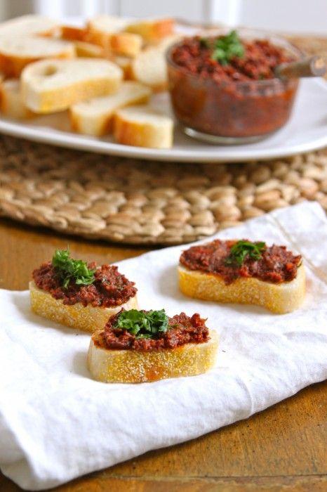 Sundried Tomato and Olive Tapenade | TheCornerKitchenBlog.com #recipe