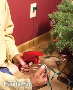 Find a holiday light problem and fix it fast with this simple tester and repairer. You don't have to test every bulb!