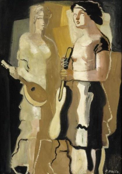 Ollila, Yrjo (1887-1932) - The Musicians, 1928, Finnish National Gallery