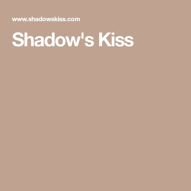 Shadow's Kiss website home page.