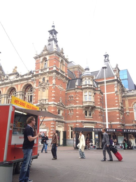 Leidseplein in Amsterdam, Noord-Holland - Nice little square full of pubs and shops. There is a big outdoor patio right in the square - nice to sit and have a beer and people-watch