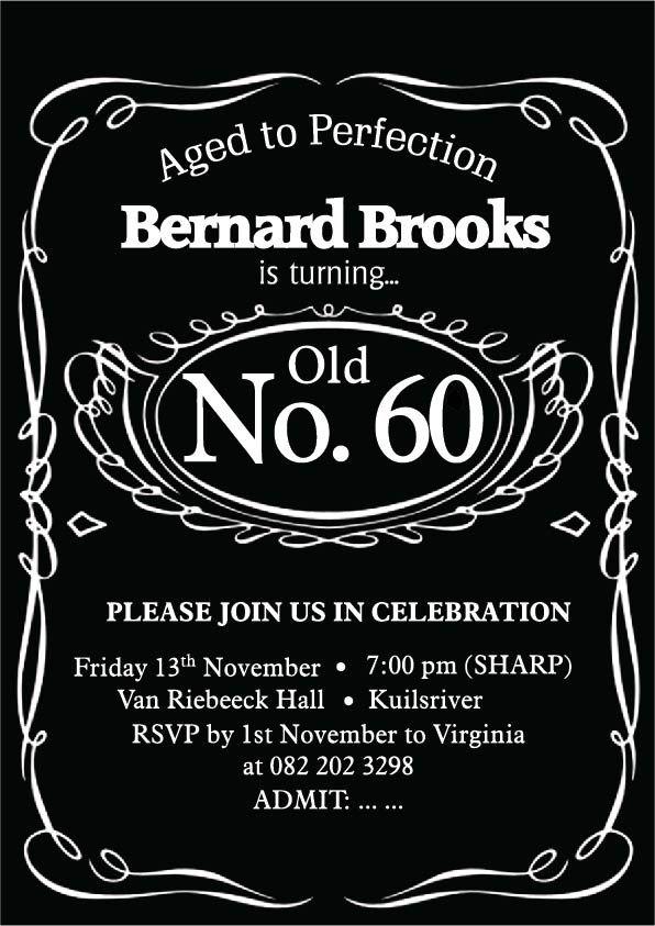 60th themed birthday invite, unfortunately this design was not chosen but I still enjoyed the design
