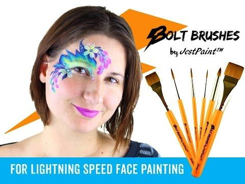 Bolt Face Painting Brushes by Jest Paint Demo - YouTube
