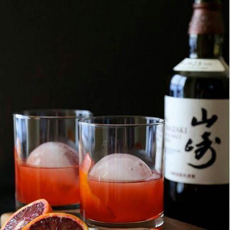 Blood Orange Whiskey Negroni. Made with Yamazaki.