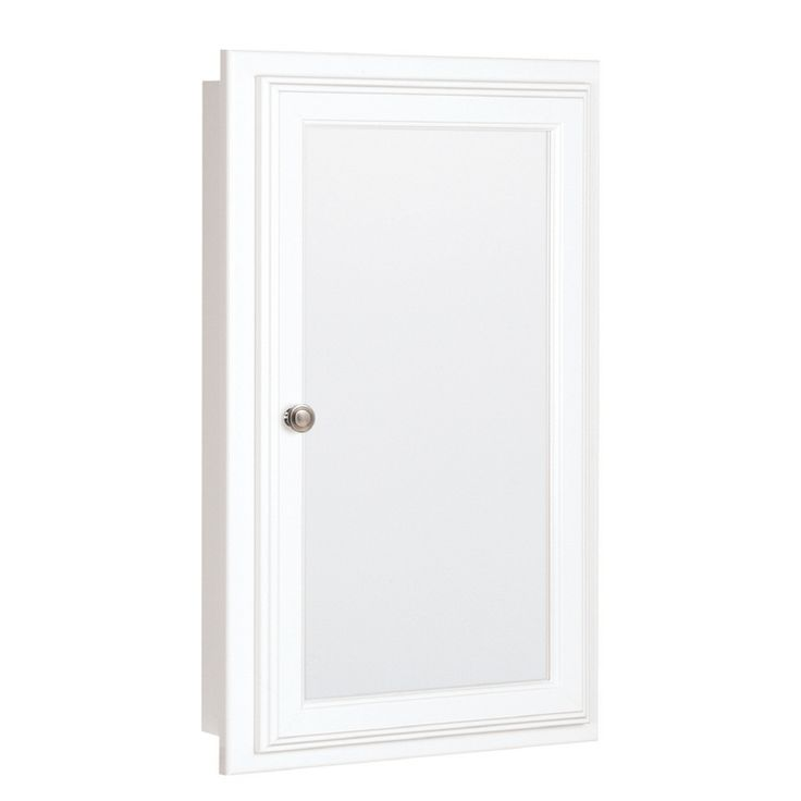 Shop Style Selections 25.75in H x 15.75in W White MDF